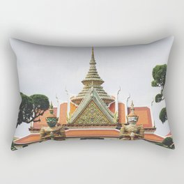 Thai temple/wat Rectangular Pillow
