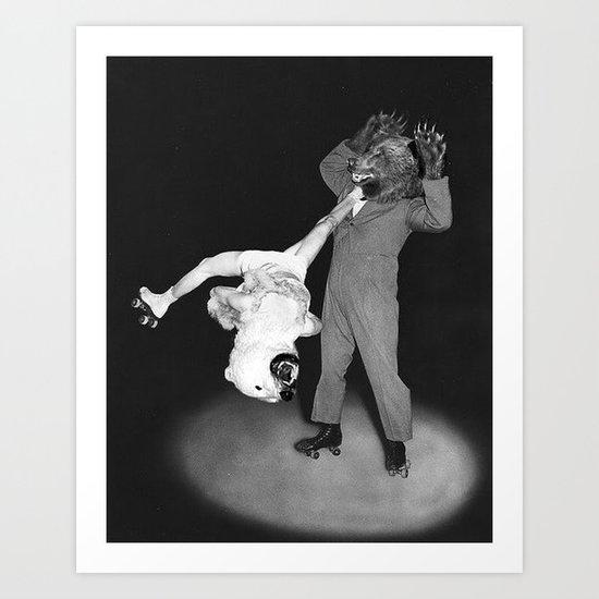 Roller Bears Art Print