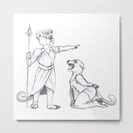 Inktober: Divided + Lioness Metal Print