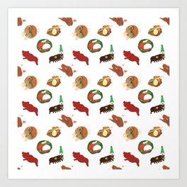 Balinese Food Pattern Art Print