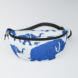 ELEPHANT BLUE MARCH Fanny Pack