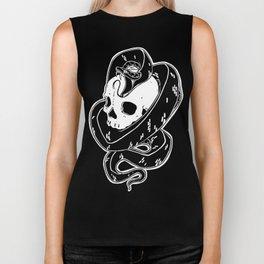 Snake and Skull Tattoo Flash Biker Tank