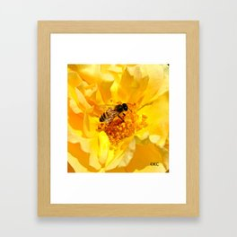 Bumble Framed Art Print