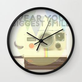 WEAR YOUR BIGGEST SMILE Wall Clock
