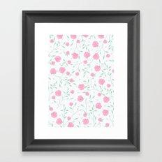 Floral pattern design Framed Art Print