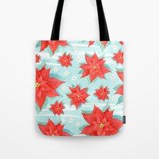 Red poinsettia #1 Tote Bag