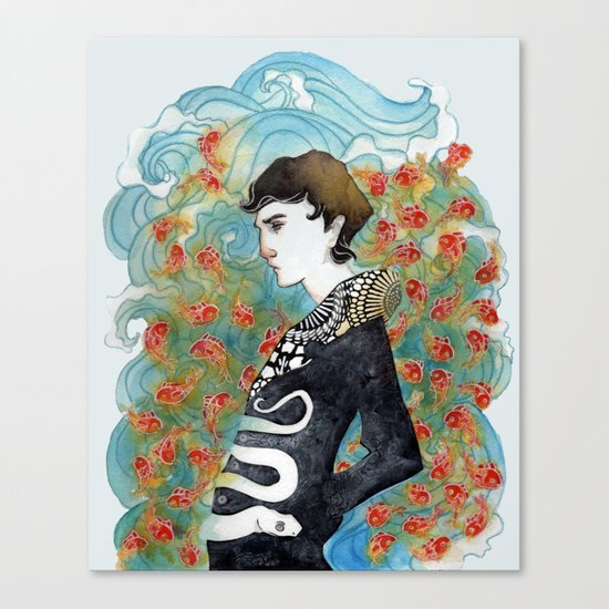 The White Snake Canvas Print