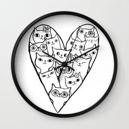 I LOVE CATS! Wall Clock