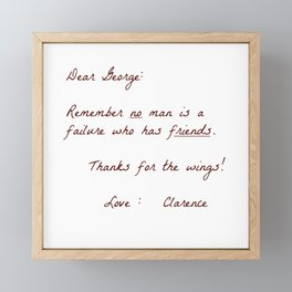 Dear George Framed Mini Art Print