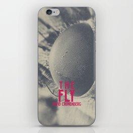 The Fly, horror movie poster, David Cronenberg, Jeff Goldblum, alternative playbill iPhone Skin