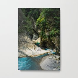 River Through Taroko Gorge Metal Print