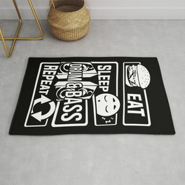 Eat Sleep Drum & Bass Repeat - Party Festival Beat Rug