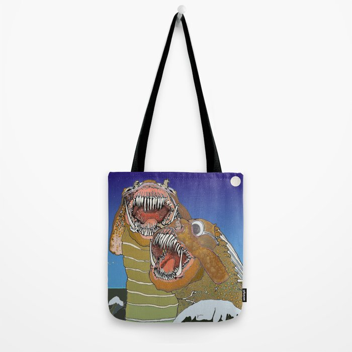 Sea Monsters Tote Bag