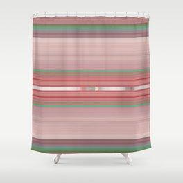 Aztec Blush Coral Aqua Stripe Pattern Shower Curtain