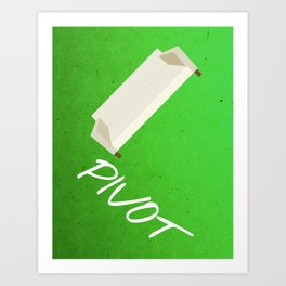 Friends 20th - Pivot Art Print