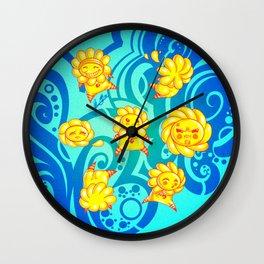 Flower Kids Wall Clock