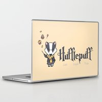 hufflepuff Laptop & iPad Skins featuring Hufflepuff by Kiell R.