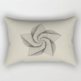 Dark Star Lines Rectangular Pillow