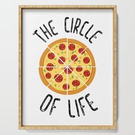 The Circle Of Life Funny Quote Serving Tray