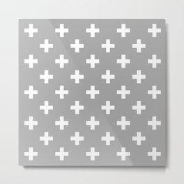 Grey Cross  Metal Print
