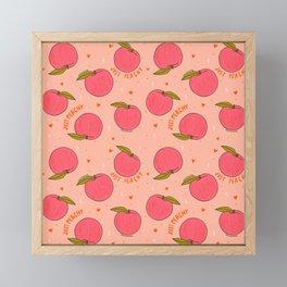 Peach Print Framed Mini Art Print