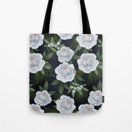 winter rose // repeat pattern Tote Bag