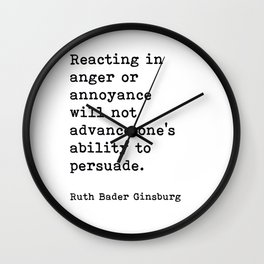 RBG, Reacting In Anger Or Annoyance Wall Clock