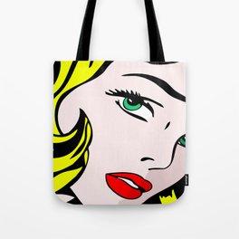 Green-Eyed Blonde Tote Bag