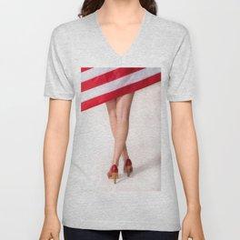 American Legs Unisex V-Neck