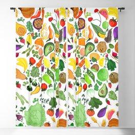 Fruit and Veg Pattern Blackout Curtain