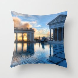 World Famous Neptune Pool San Simeon California United States North America Ultra HD Throw Pillow