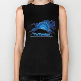 Buffalo Running (Blue) Biker Tank