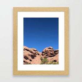 red rock buttes Framed Art Print