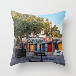 Norwich City's outdoor market of the year Throw Pillow