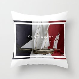 Le Coureur, 250 years Throw Pillow