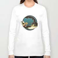 ferret Long Sleeve T-shirts featuring Ferret by Ana del Valle Store
