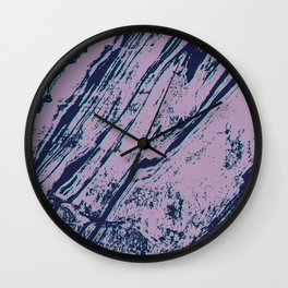 Lilac marble effect Wall Clock