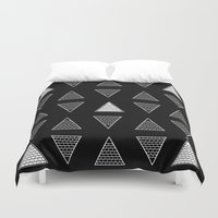 triangle Duvet Covers featuring Triangle by Emmanuelle Ly