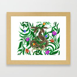 Snakes  illustration Framed Art Print