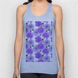 Artistic hand painted purple violet watercolor floral Unisex Tank Top
