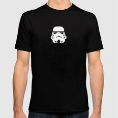Keep Calm and use the Force Mens Fitted Tee MEDIUM Black
