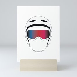 Snowboard Helmet and Goggles Mini Art Print