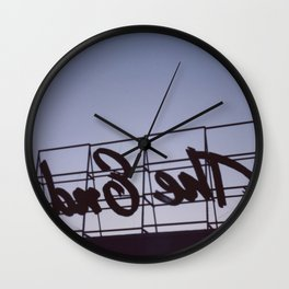 The Other Side of the End Wall Clock