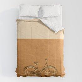 i like to ride my bicycle  Comforters