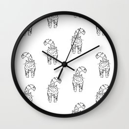 I`m ignoring you. Vector seamless pattern Wall Clock