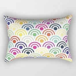 Colorful Circles II Rectangular Pillow