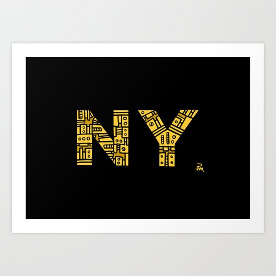 NIGHT NY - PM Art Print