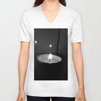 the lights V-neck T-shirts featuring Lights by Efua Boakye