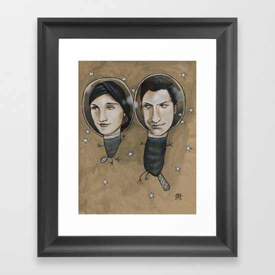 Outer Face Framed Art Print