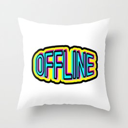 Offline Throw Pillow